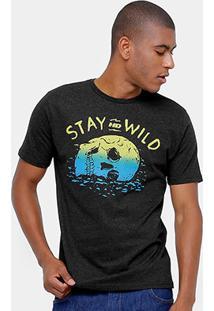 Camiseta Hd Est Wild Skul Masculina - Masculino