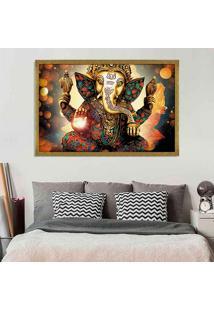 Quadro Love Decor Com Moldura Lord Ganesha Dourado Grande