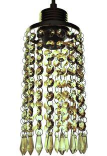 Lustre Pendente Diamante 1060/1 Champagne Redondo 40W Bivolt