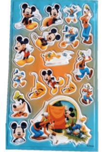 Adesivo Mickey Acampamento Alto Relevo Festaria