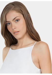 Blusa Com Alças Em Tecido Branco Off White - Lez A Lez