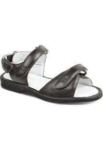 Sandalia Masculina Polo State Confort - Masculino-Marrom