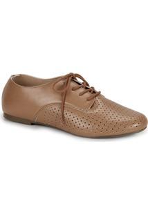 1d280e4d2d ... Sapato Oxford Bico Redondo Via Uno Furos