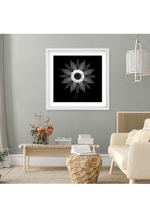 Quadro Com Moldura La Suno Leafman Branco - 70X70 - Multicolorido - Dafiti