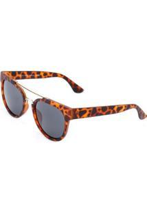 Óculos De Sol Ray Flector Vtg567 Feminino - Feminino-Marrom+Preto