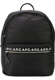 A.P.C. Mochila Com Estampa De Logo - Preto