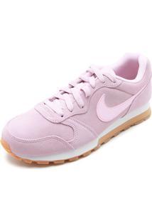 Tênis Couro Nike Sportswear Wmns Md Runne Rosa