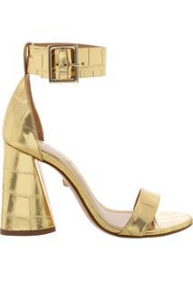 Sandália Salto Cone Golden | Schutz