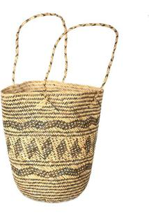 Bolsa Bucket De Fibra Natural | Bali