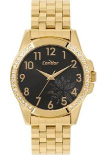 Relógio Condor Top_Fashion Feminino - Feminino-Dourado
