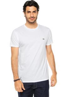 Camiseta Lacoste Gola Redonda Branca