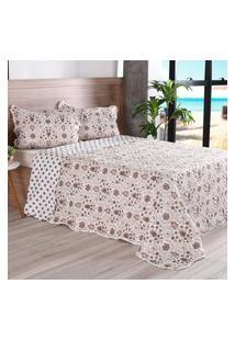 Kit 1 Cobre Leito Casal + 2 Portas Travesseiros Bouti Ultrassonic Rolinho Glamour - Bene Casa
