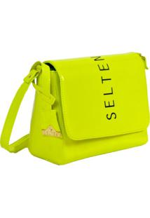 Bolsa Neon Transversal Verde Limão Selten