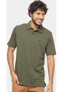 Camisa Polo Hang Loose Basic Masculina - Masculino-Verde Militar