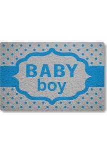 Tapete Capacho Baby Boy - Prata