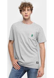 Camiseta Grizzly Og Bear Embroidered Pocket Masculina - Masculino