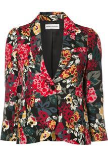 Sonia Rykiel Blazer Com Estampa Floral - Preto