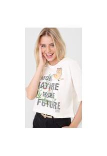 Camiseta Colcci Nature Off-White