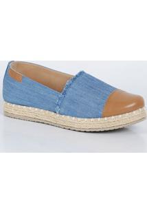 Sapatilha Feminina Jeans Franjas Via Uno 1290018