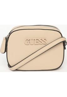 Bolsa Transversal ''Guessâ®''- Nude- 13,5X18X5,5Cm