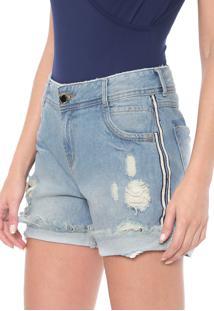 Bermuda Jeans Dimy Boyfriend Thaila Azul