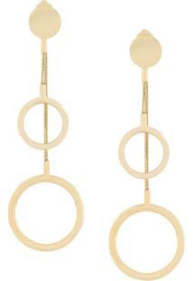 Isabel Marant Asymmetric Circle Drop Earrings - Metálico