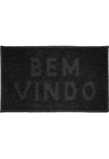Tapete J.Serrano Bem-Vindo Realce 50X80Cm Chumbo