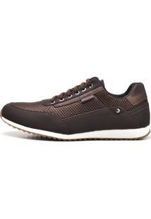 Sapatênis Sapato Casual Juilli Com Cadarço 1100M Cafe Marrom