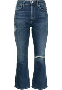 Citizens Of Humanity Calça Jeans Bootcut Cropped - Azul