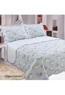 Conjunto De Colcha Patchwork Bouti Queen Size- Azul Clarsultan