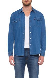 Camisa Classic Western Shirt Levis - Masculino-Azul