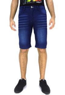 Bermuda Jeans Maresia Brands Lines Azul
