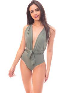 Body Moda Vicio Multiuso Verde - Verde - Feminino - Poliamida - Dafiti