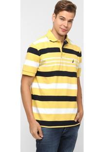 Camisa Polo Nautica Piquet Listrada - Masculino