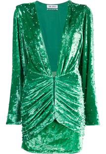 The Attico Vestido Com Detalhe De Tachas - Verde