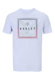 Camiseta Hurley Silk Be Fronds - Masculina - Branco