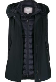 Woolrich Donna Double-Layered Coat - Azul