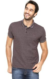 Camisa Polo Aramis Regular Fit Roxa