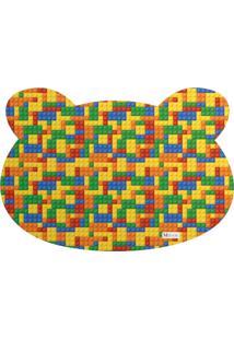 Tapete Pet Mdecore Urso Geométrico Colorido 54X39Cm