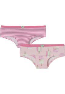 4dff08376 ... Kit De Calcinhas Boneca- Rosa   Pink- 2Pçscor Com Amor