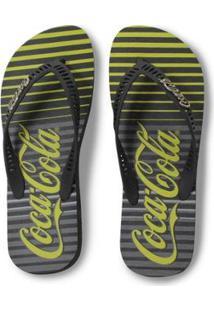 Chinelo Coca Cola Tiras Vazadas Masculino - Masculino