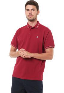 Camisa Polo Timberland Rib Pomegranate Vinho