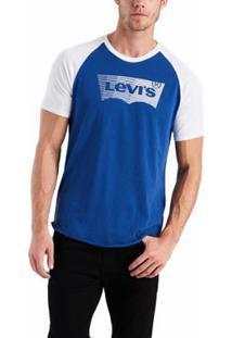 Camiseta Levis Logo Batwing Retro Masculina - Masculino-Branco