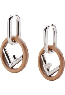 Fendi F Is For Fendi Earrings - Metálico