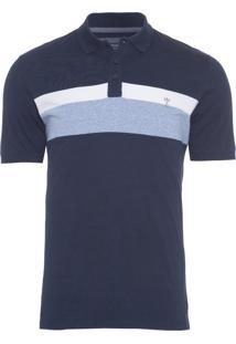 Polo Masculina Listra - Azul