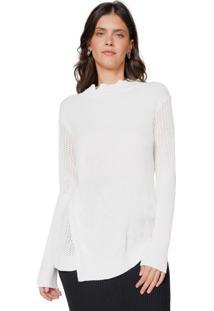 Suéter Tricot Assimétrico Trança