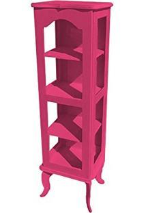Cristaleira Colonial 1 Porta Atz122 - Rosa