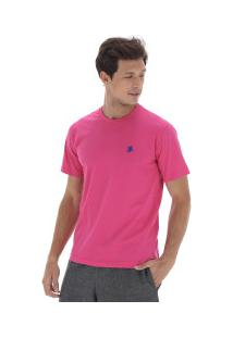 Camiseta Polo Us Gola Careca 606Tsgcb - Masculina - Rosa/Azul Esc