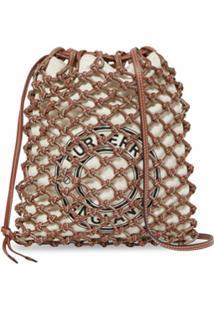 Burberry Bolsa Grande Com Estampa De Logo - Marrom