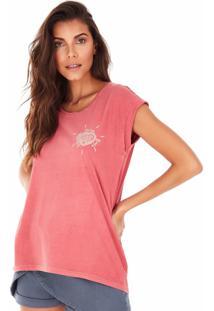 Camiseta Side Walk Camiseta Rosa